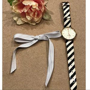 Striped kate spade Watch